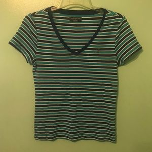 Tommy Hilfiger Junior Size M Striped Top D11